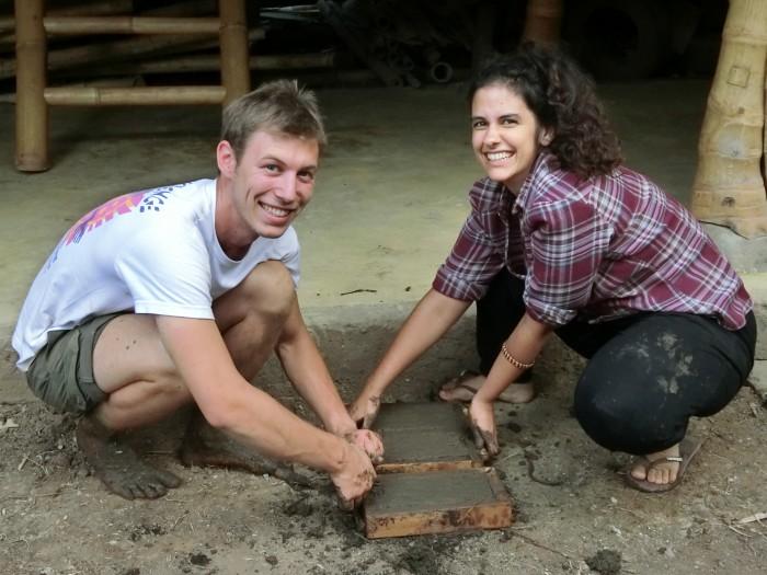 How to make mud bricks, Kul Kul Farm