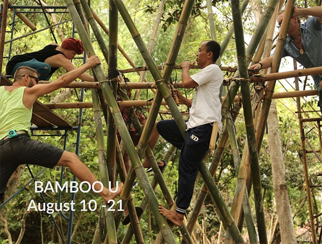 Bamboo U: a Build & Design Course in collaboration with IBUKU